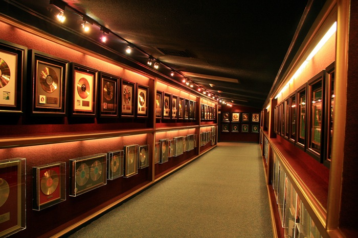 gold record hallway