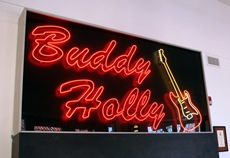 Buddy Holly neon sign