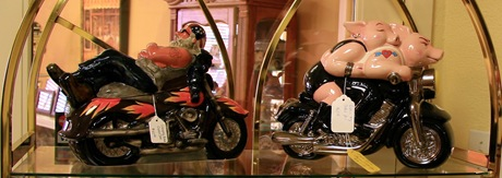 motorcycle cookie jars