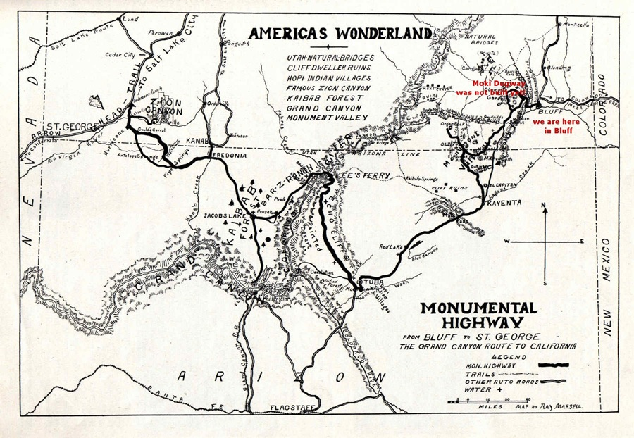map Monumental Highway