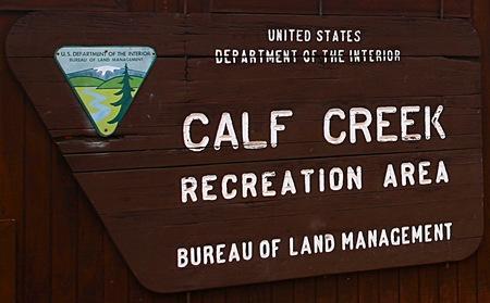 calf creek sign