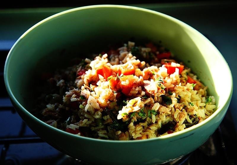 rice salad e