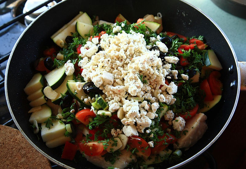 chicken feta b