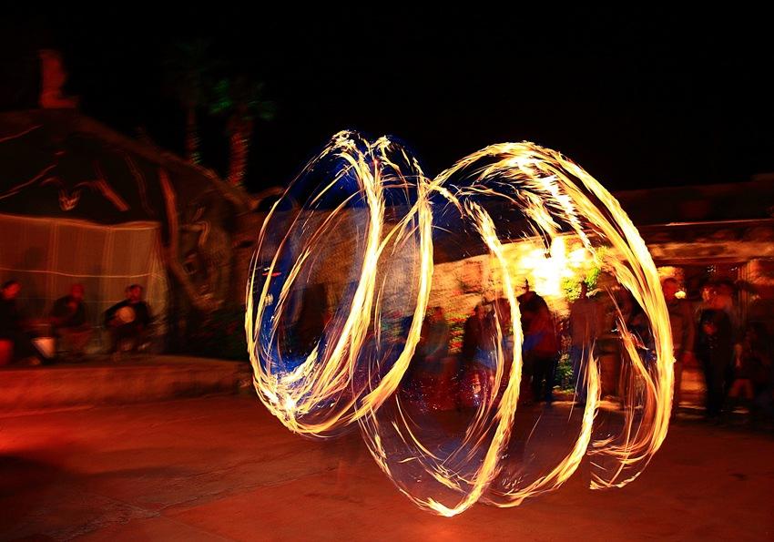 fire dancers a