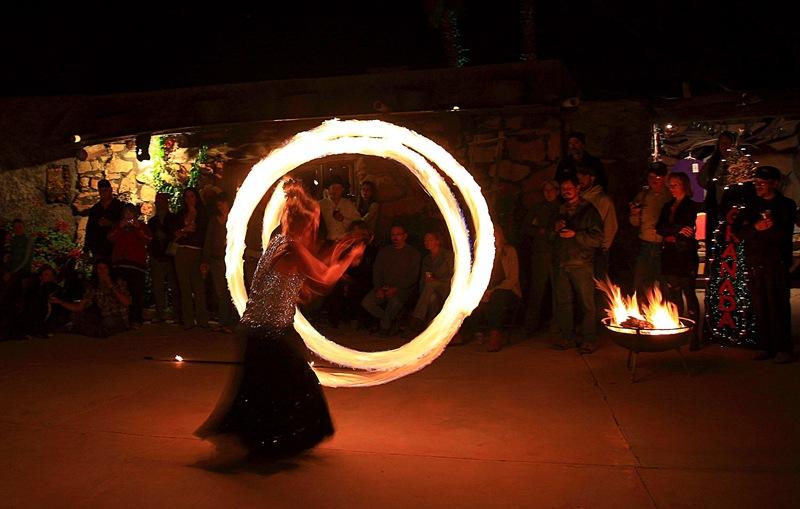 fire dancers c