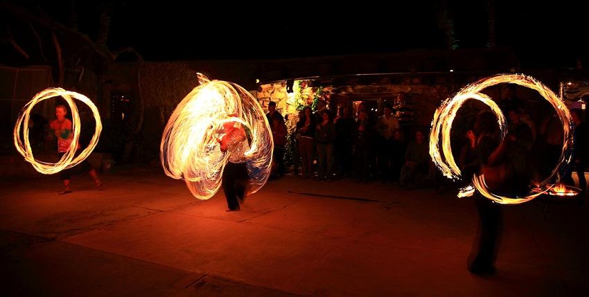fire dancers f