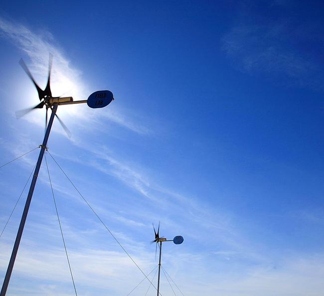 wind turbines b