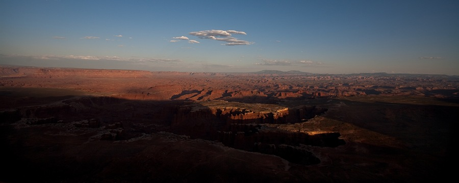 white rim trail sunset