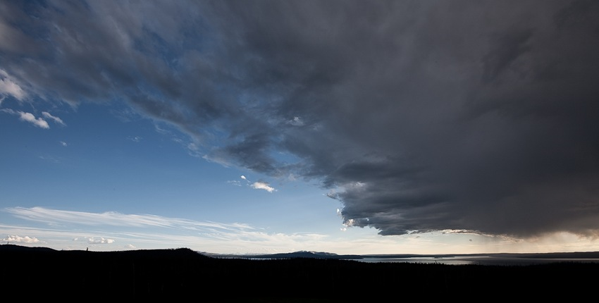 Yellowstone Lake Storm