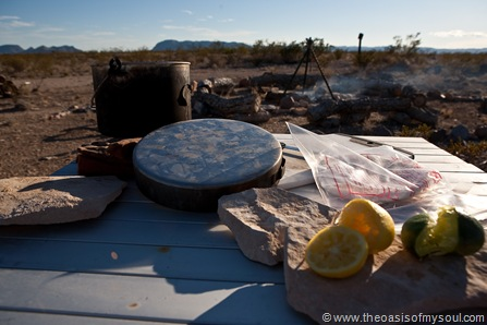 Cooking at The Oasis