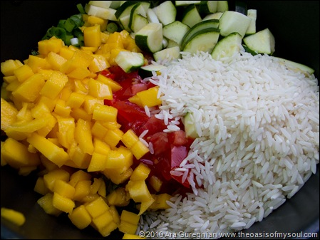 Rice and Mango with Mint