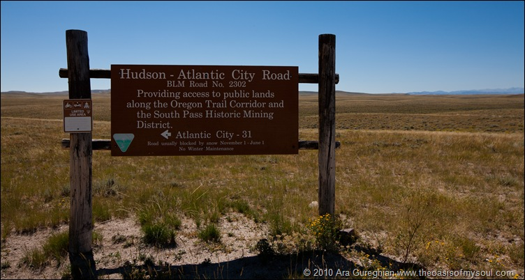 Hudson-Atlantic City Rd sign