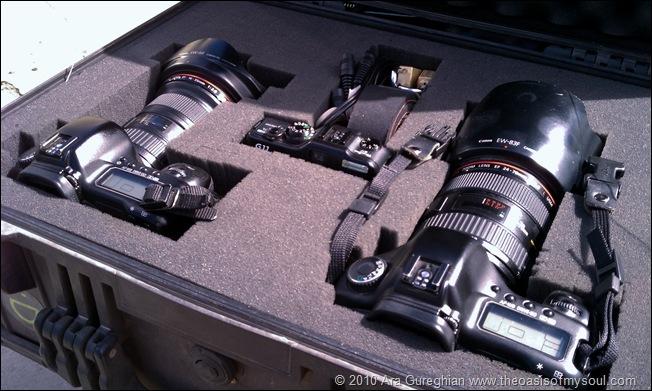 Inside camera case
