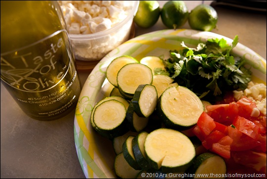 Rice Feta Vegetable Dish