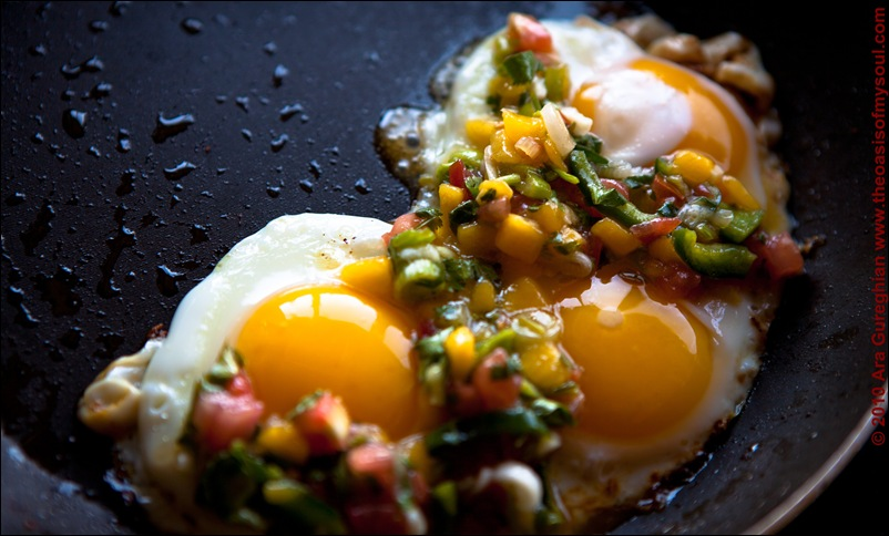 Eggs and Mango Salsa