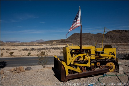 Flag on tractor