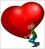 man's heart