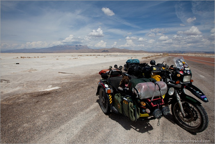 Dry salt lake bed
