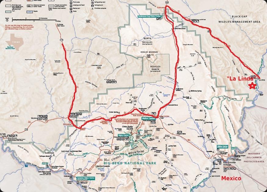 La Linda Map