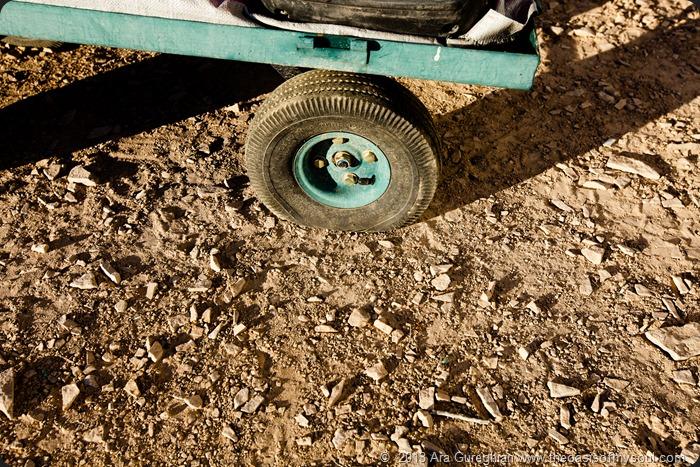3 flat tires... xxx