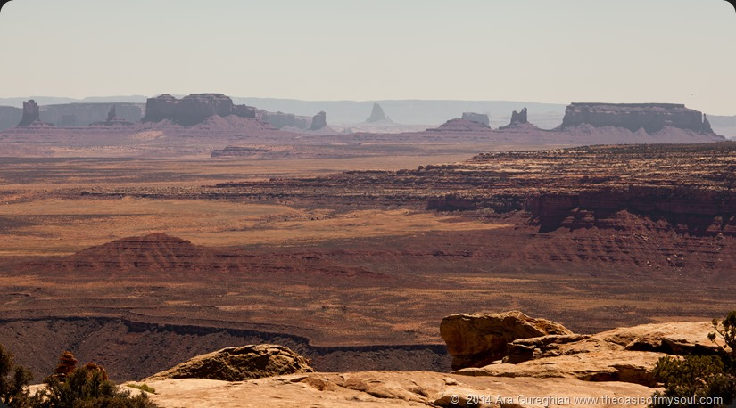 Monument Valley in the distance from Muley Point xxx