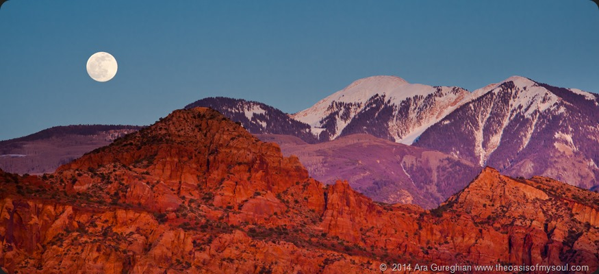 Moonrise over La Sal Mountains-2 xxx
