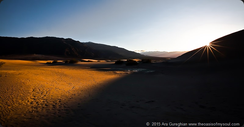 Sunset on the dunes of Death Valley, California. PCTB 10