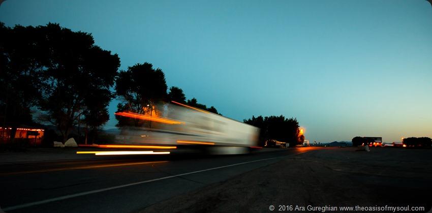 Night trucking in Shoshone